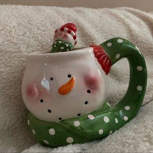 christmas snowman mug and spoon